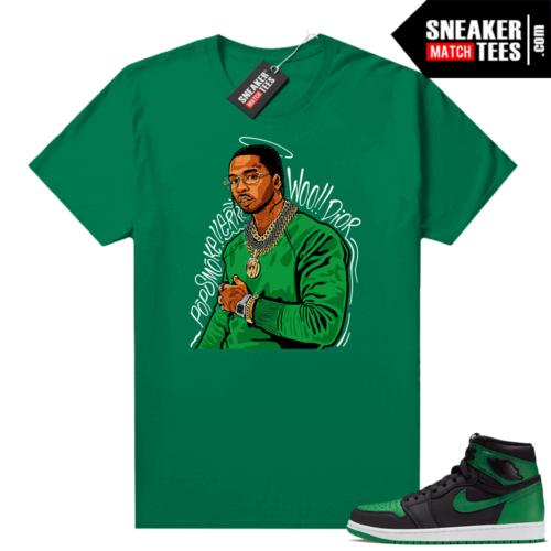 Pine Green 1s shirt Pop Smoke Tribute