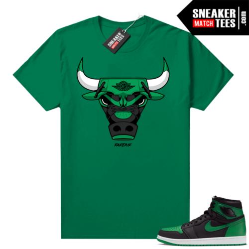 Pine Green 1s shirt Rare Air Bull