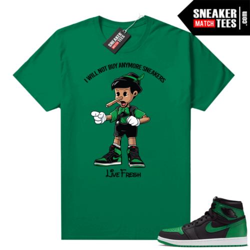 Pine Green 1s shirt Sneaker Head Pinocchio