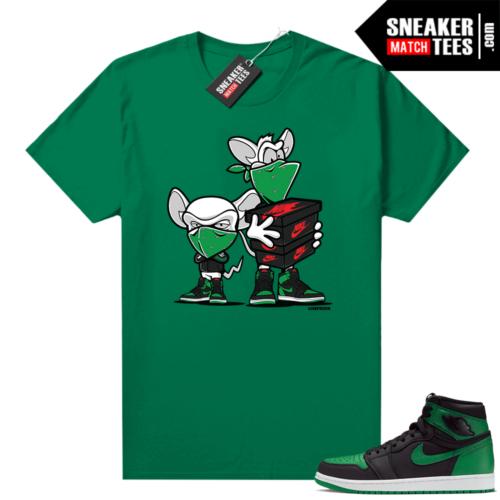 Pine Green 1s shirt Sneaker Heist