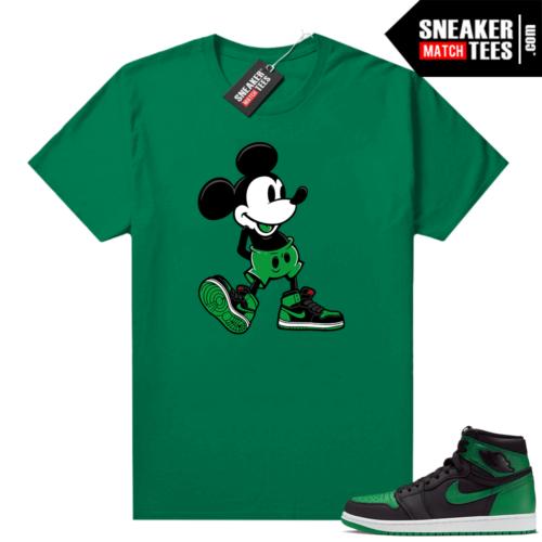 Pine Green 1s shirt Sneakerhead Mickey