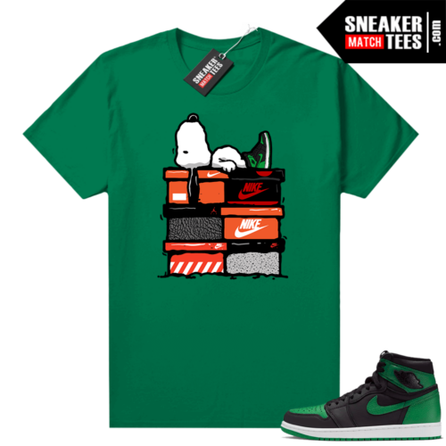 Pine Green 1s shirt Sneakerhead Snoopy