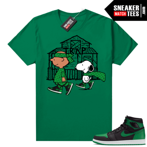 Pine Green 1s shirt Snoopy Traphouse