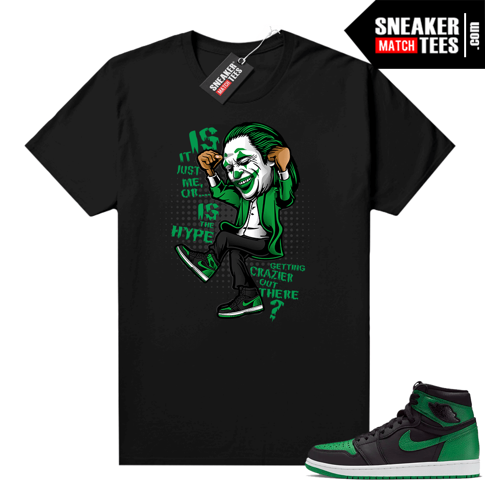 Pine Green 1s shirt black Crazy Hype
