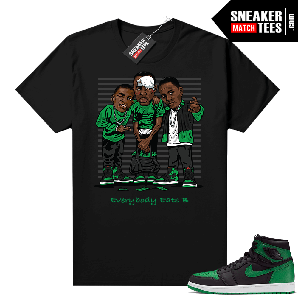 Pine Green 1s shirt black Everybody Eats B