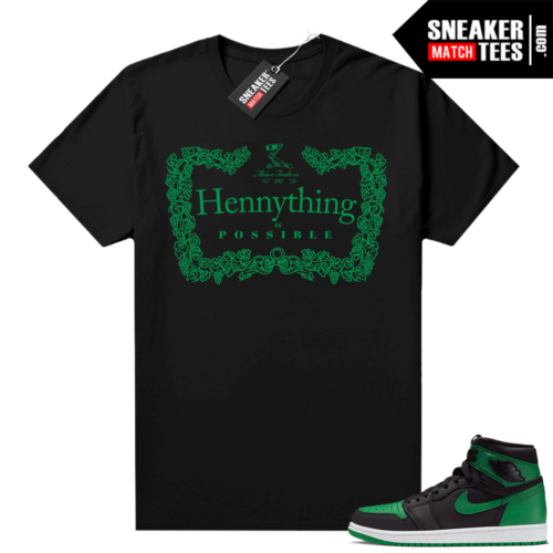 Pine Green 1s shirt black Hennything
