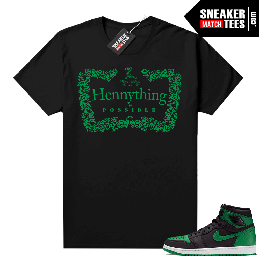 Pine Green 1s shirt black Hennything