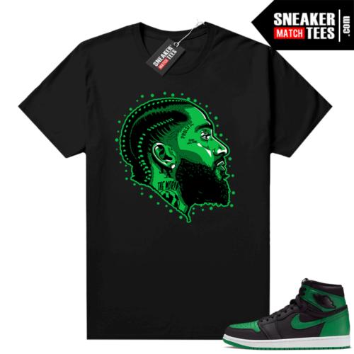 Pine Green 1s shirt black Prolific