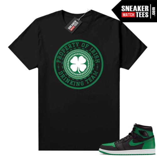 Pine Green 1s shirt black Saint Pattys Day Drinkin Team