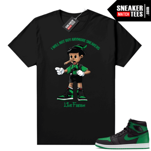 Pine Green 1s shirt black Sneaker Head Pinocchio