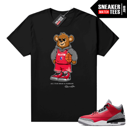 Red Cement 3s shirt All Star Bear