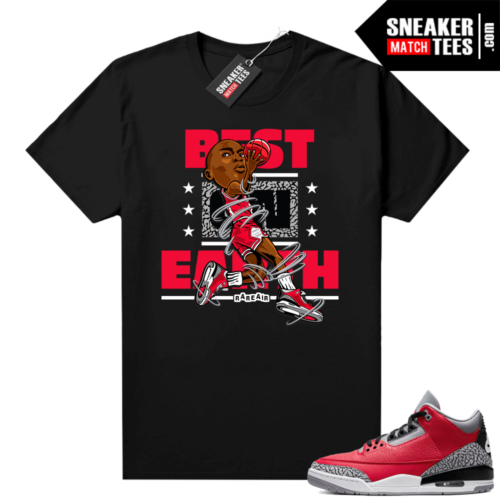 Red Cement 3s shirt Best On Earth