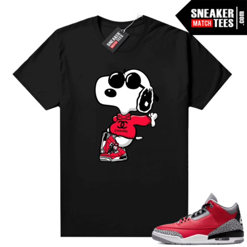 Red Cement 3s shirt Fly Snoopy
