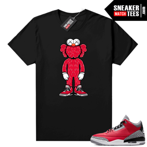 Red Cement 3s shirt Kaws Elmo 3s