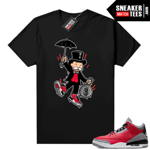 Red Cement 3s shirt Monopoly bred