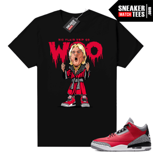 Red Cement 3s shirt Ric Flair Drip