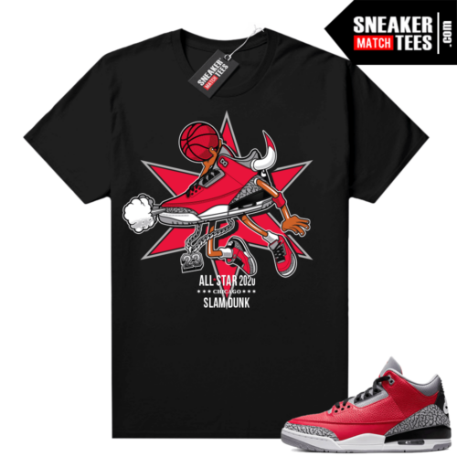 Red Cement 3s shirt SLAM DUNK Allstar 3s