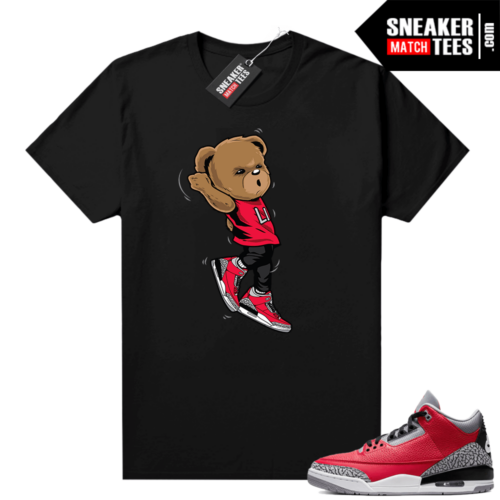 Red Cement 3s shirt Shootin Bear