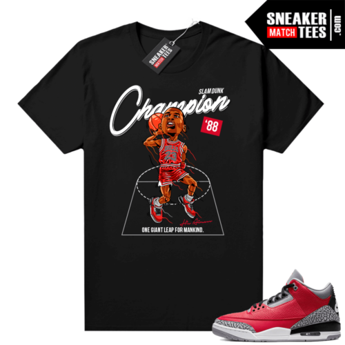 Red Cement 3s shirt Slam Dunk Champion 88