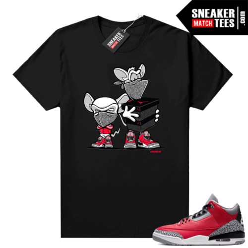 Red Cement 3s shirt Sneaker Heist