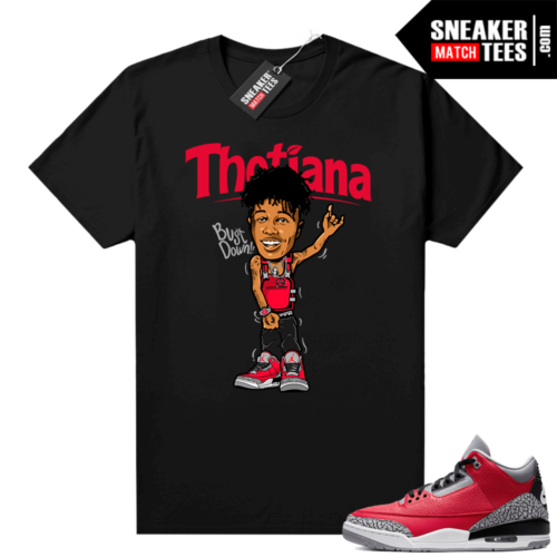 Red Cement 3s shirt Thotiana