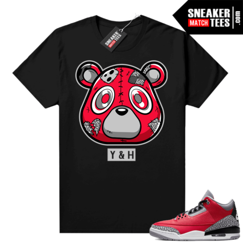 Red Cement 3s shirt Young & Heartless Bear
