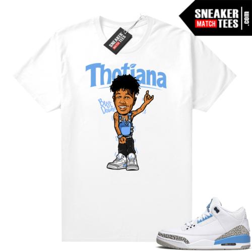 3s Jordan UNC shirt Thotiana