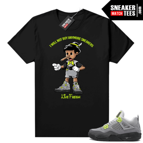 Air Max 95 Jordan 4 shirt outfit black Sneakerhead Pinocchio