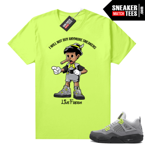 Air Max 95 Jordan 4 shirts Neon Sneakerhead Pinocchio