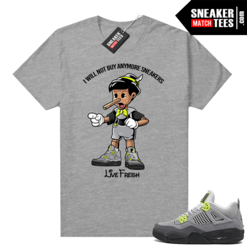 Air Max 95 Jordan 4 sneaker shirt Grey Sneakerhead Pinocchio