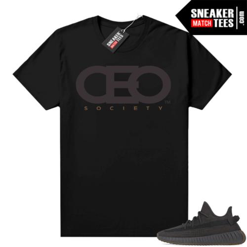 Cinder Yeezy 350 shirts black CEO Society logo