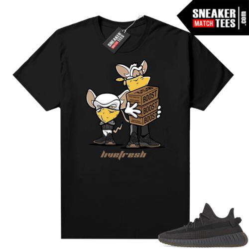Cinder shirt Yeezy 350 match black Sneaker Heist