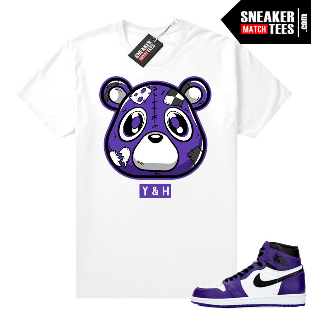 Court-Purple-1s-2-0-Jordan-tee-White-Heartless-Bear