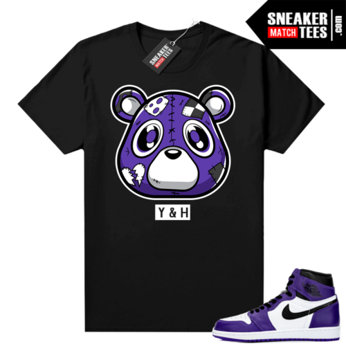 Court-Purple-1s-2-0-shirt-to-match-Black-Heartless-Bear