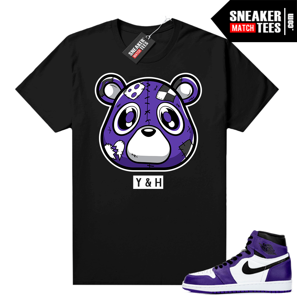 Court-Purple-1s-2-0-shirt-to-match-Black-Heartless-Bear