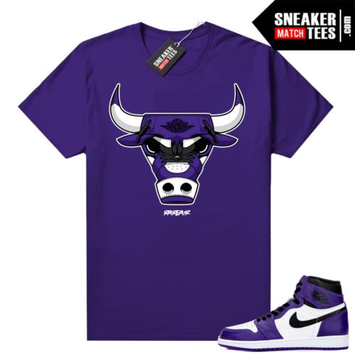Court Purple 1s 2.0 sneaker tees Purple Rare Air Bull