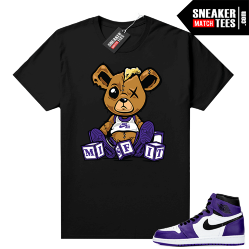Court-Purple-1s-2-0-sneakers-outfit-shirt-Black-Misfit-Teddy