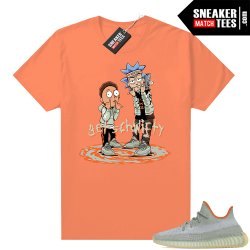 Desert Sage 350s shirt Hyper Orange Get Schwifty