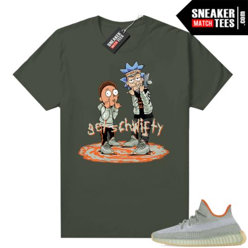 Desert Sage 350s shirt Olive Get Schwifty