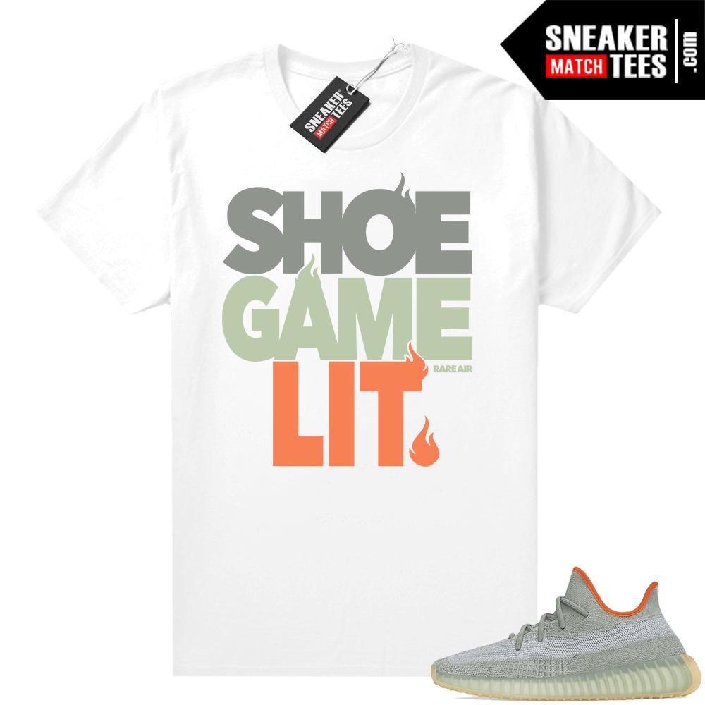 Desert Sage Yeezy 350 shirt Shoe Game Lit