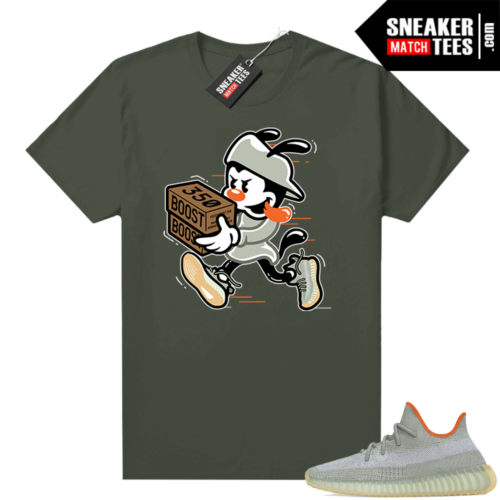 Desert Sage shirt outfit Yeezy 350 Olive Double Up