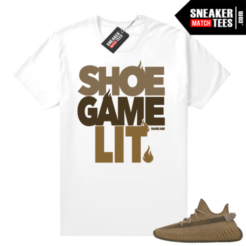 Earth Yeezy 350 shirt white Shoe Game Lit