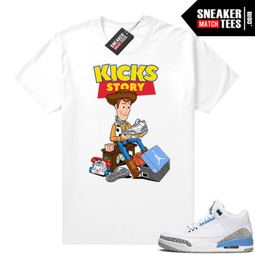 Jordan 3 UNC sneaker matching shirt Kicks Story