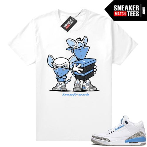 Jordan 3 UNC sneaker outfits match Sneaker Heist