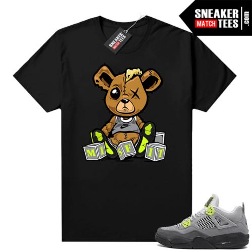 Jordan 4 Neon 95 shirts Black Misfit Teddy
