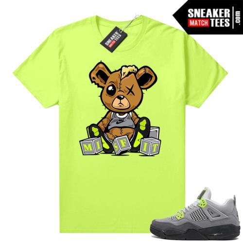 Jordan 4 Neon 95 sneaker tees Neon Misfit Teddy