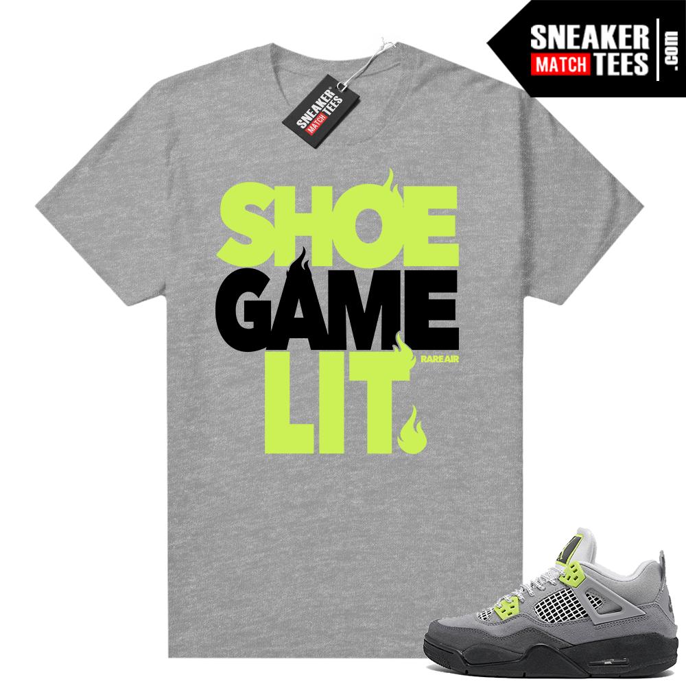 Neon 4s Air Max 95 Jordan Sneaker Tees Jordan Match Tees