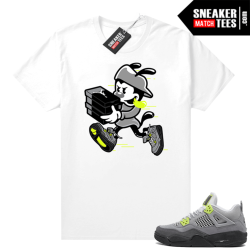 Jordan 4 Neon Air Max 95 sneaker shirt White Double Up