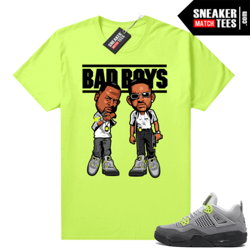 Jordan T-shirt match Neon 4s Air Max 95 Neon Bad Boys