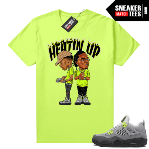 Jordan T-shirt match Neon 4s Air Max 95 Neon Heatin Up